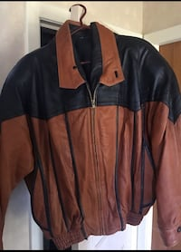 Mint! Brown/Black Leather Jacket