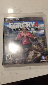Farcry 4 Limited Edition PS4 game case Washington, 20008