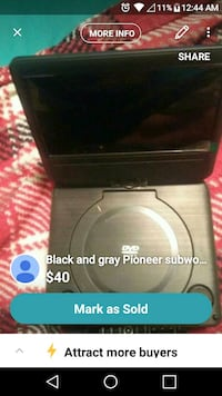 black and gray Sony stereo component Baltimore, 21222