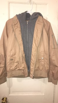 Brown silk hoodie jacket