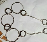 silver chain link necklace with round pendant Port Jefferson Station, 11776