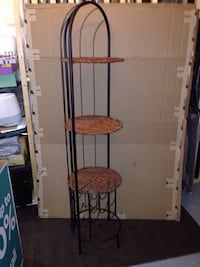 Vintage Mid century modern wicket and metal wine 3 -tier stand Mississauga, L5J 1V6