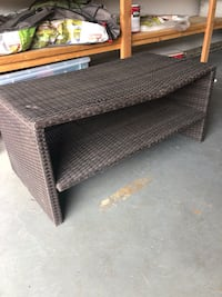 Brown wicker table, slightly bent, 41 in. X 21 in. San Diego, 92117