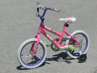 "BARELY USED GIRLS 16"" HUFFY SEA STAR + TRAINING WHEELS $45.00! null"
