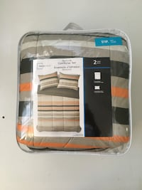 New -Mainstays 2 piece Twin Reversible Comforter Set - $55 each Toronto