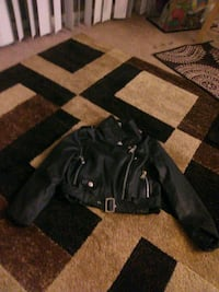 Black leather jacket Raleigh, 27603