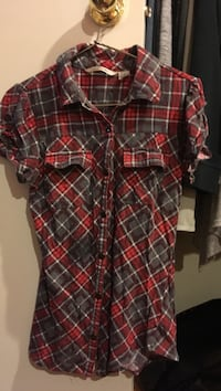 red, black, and white plaid sport shirt Whitchurch-Stouffville, L4A 1C4
