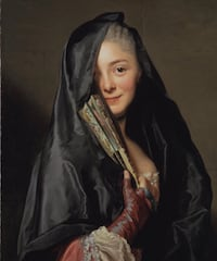 """Large 33.5"""" x 33.5"""" Framed The Lady with the Veil Newmarket, L3Y 2X9"""