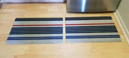 Two Indoor/outdoor Chilewich Doormats