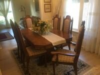 Dining set solid oak wood
