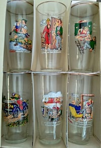 6 pcs in box VINTAGE GLASSES FROM HAHN AIR FORCE B Woodstock, 22664