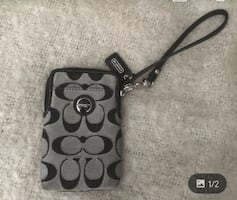 Coach cellphone and credit card case.