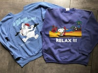 2 Pulls Sweat-shirt Unisexe • Snoopy et Droppy (Tex Avery) • Collector • Vintage La Seyne-sur-Mer, 83500