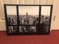 Black and White Canvas of NY City Putnam Valley, 10579