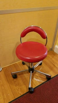 round red rolling chair Brookline