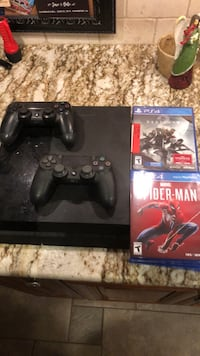Used PlayStation 4  Two controllers  Spider-Man  Destiny 2  Bunch of old  games for sale in Point Pleasant Beach - letgo
