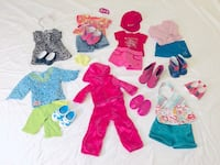 American Girl Doll Wardrobe Bundle Pack! (Dolls and dog not included)