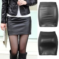 Faux Leather Skirt 3733 km
