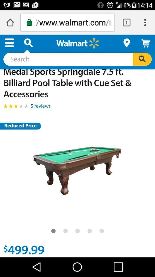 Used Pool Table For Sale In St Louis Letgo - Springdale pool table