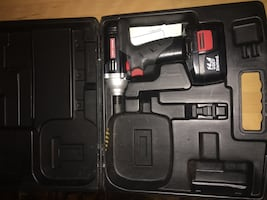 Black and red cordless hand drill