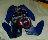 Boys small 7/8 one piece pj's (Civil War)  Surrey, V3S 0L2