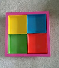 Square Sectional Multi-color Serving Tray