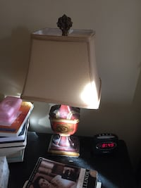 Pair of red and gold lamps.   Baltimore, 21214