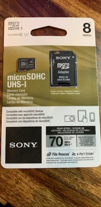 (NEW) Sony Micro SD 8GB Memory Card Toronto