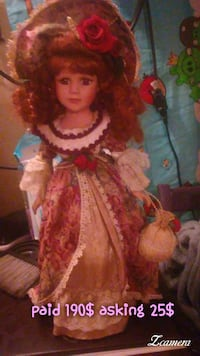 brown, white and red floral print doll dress Baltimore, 21224