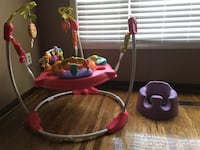 Jump-a-roo and bumbo chair. Mint condition , comes from a nice clean house. My daughter barely used them. 80$ for both Stoney Creek, L8G 4Y8