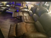 Brown leather 3-seat sofa and love seat  Lighthouse Point, 33064
