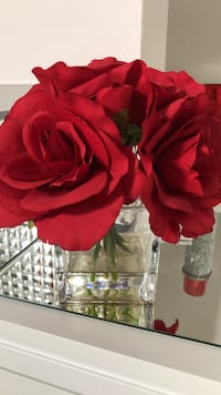 Red faux roses centerpiece Vaughan, L4H 3W9