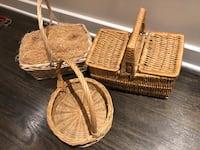 3 wicker baskets including Toto basket  Arlington, 22209