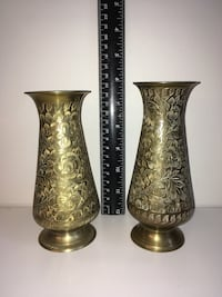 Etched Metal Vase from India