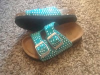 Baby girls sparkle studded two strap sandals???????????? Lancaster, 93535