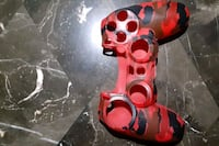 Game console controller Red Camo Skin