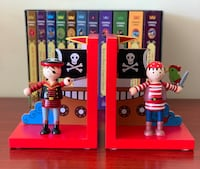Wooden Pirate Bookends by Orange Tree Toys Falls Church, 22043