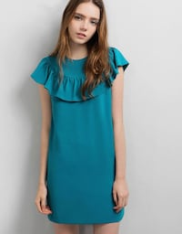 Saturday Club - Marne Dress - color : Teal SINGAPORE