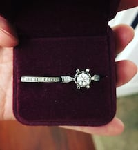 White Gold Diamond Engagement Ring & Wedding Band Royal Oak