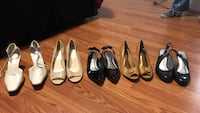 Five pairs of assorted-color leather heeled shoes Buford, 30519
