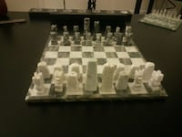 Hand crafted marble chessboard