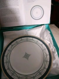 round white and blue ceramic plate Indian Head, 20640