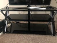 black glass top TV stand Laurel, 20708