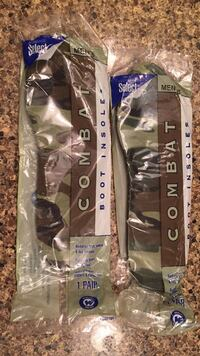 Mens 7 Combat boot insoles from the base in Montana Omaha, 68116