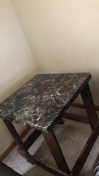 Rectangular black and white marble top table Sycamore, 60178