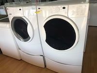 Kenmore white washer and dryer bundle with pedestals  Woodbridge, 22191
