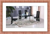 Marble table black new with 4 chairs Elkridge, 21075