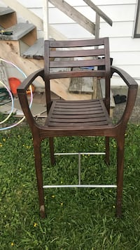brown wooden framed brown wooden rocking chair Burnaby, V3N 1L6