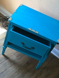 blue and black wooden 2-drawer chest Bossier City, 71111