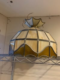 Antique Stain Glass Light